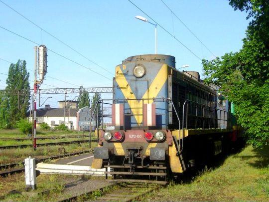 """""""Tamara"""" tradycyjnie odpoczywa na jednym z żeberek stacji Szczecin Dąbie"""