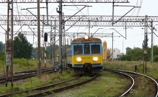 Pociąg osobowy do Kostrzyna wjeżdża na wyjątkowo zatłoczoną tego dnia stację