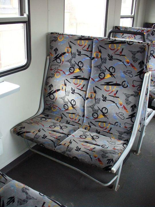 Nowe siedzenia w zmodernizowanym EN57-1356