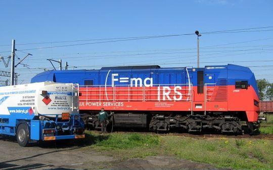 Lokomotywa 311D Kolei Bałtyckiej zawitała do Podjuch celem zatankowania