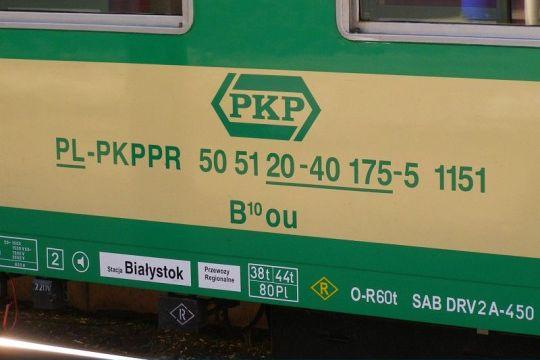 Tak wyglądają nowe oznaczenia wagonów pasażerskich