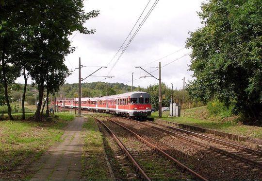 Pociąg specjalny w drodze do Trzebieży