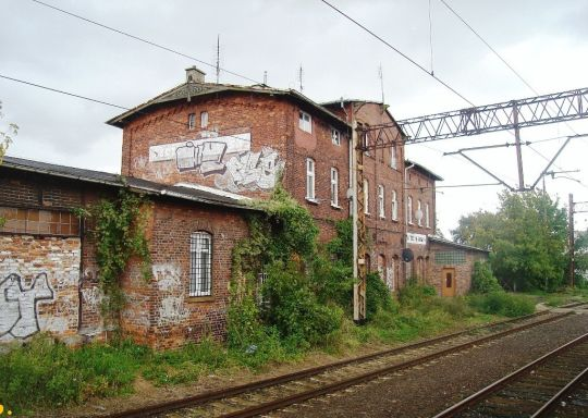 Budynek dworca na stacji Szczecin Turzyn