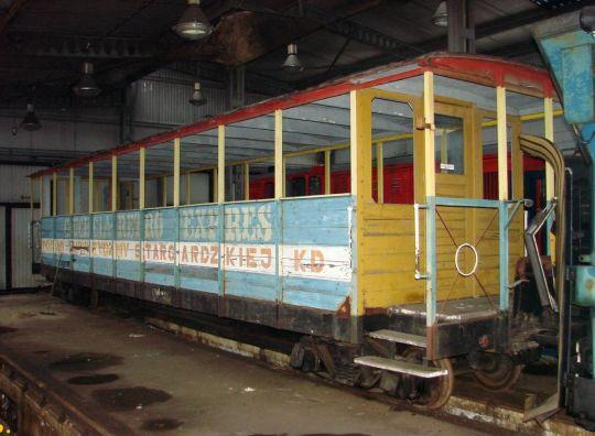Ostatni wagon BTxhpi w oryginalnym malowaniu Stargardzkiej Kolei Dojazdowej
