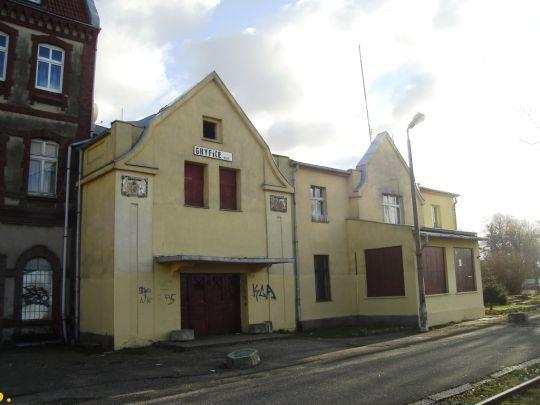 Budynek dworca wąskotorowej stacji w Gryficach