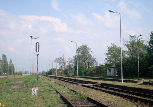 Widok w kierunku stacji Szczecin Gumieńce