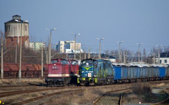 Spotkanie polskich i niemieckich lokomotyw manewrowych