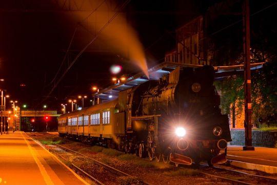 """Ol49 właśnie skończyła kurs jako pociąg """"Zatoka"""" z Gdyni do Kołobrzegu"""