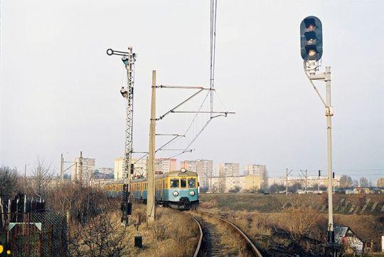 Pociąg specjalny nr 14 oczekuje na wjazd na stację Szczecin Gumieńce