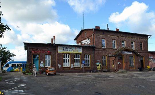 Budynek dworcowy dawnej stacji Darłowo